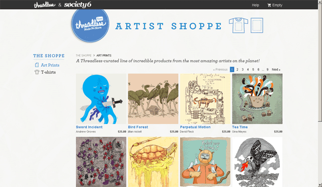 Threadless Artist Shoppe